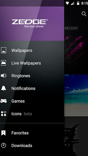 Descargar gratis ZEDGE: Ringtones & Wallpapers para Android. Programas para teléfonos y tabletas.