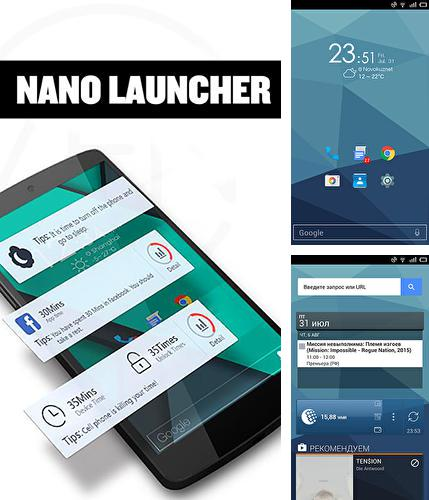Besides CM security: Antivirus applock Android program you can download Nano launcher for Android phone or tablet for free.