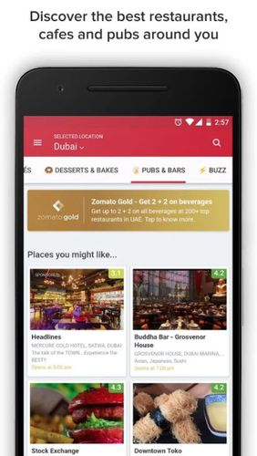 Download Zomato - Restaurant finder for Android for free. Apps for phones and tablets.