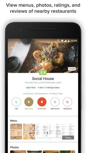 Zomato - Restaurant finder app for Android, download programs for phones and tablets for free.