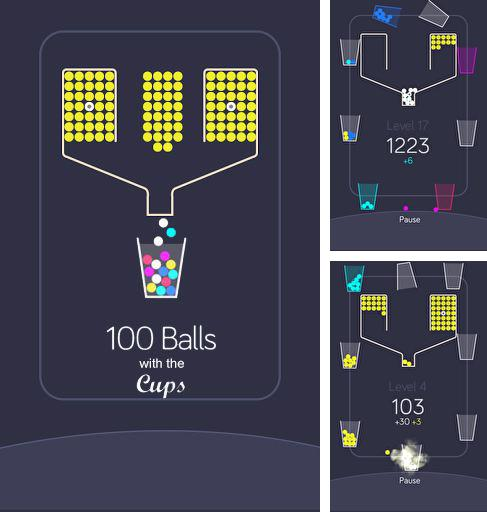 100 balls with the cups