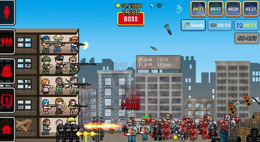 Screenshots von 100 days: Zombie survival für Android-Tablet, Smartphone.