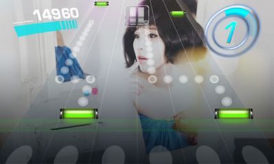 Screenshots of the 3D Rhythm Action R-tap Global for Android tablet, phone.