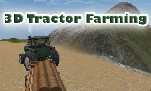 3D tractor farming poster