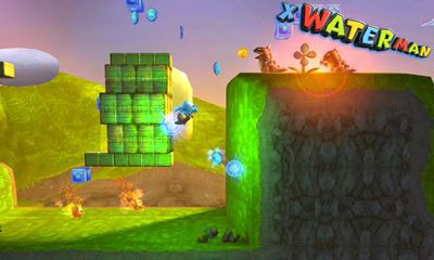 Screenshots of the 3D X WaterMan for Android tablet, phone.