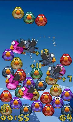 Screenshots of the 4 teh Birds for Android tablet, phone.
