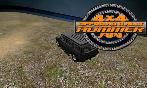 4x4 offroad rally: Hummer suv poster