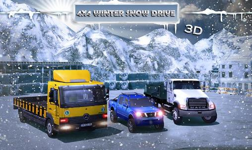 4x4 Winter snow drive 3D poster