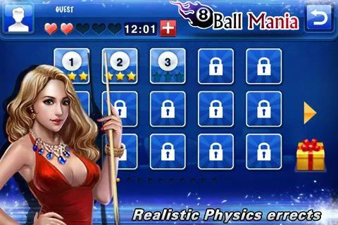 Screenshots von 8 ball mania für Android-Tablet, Smartphone.