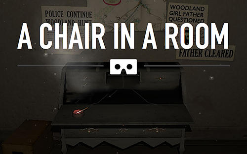A chair in a room poster