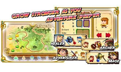 Screenshots of the A Hero's Story for Android tablet, phone.