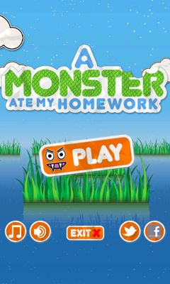 A Monster Ate My Homework poster