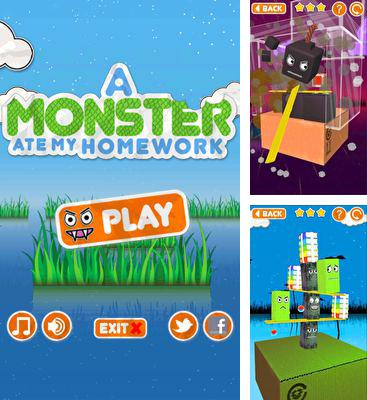 In addition to the game Pocket Warz for Android phones and tablets, you can also download A Monster Ate My Homework for free.
