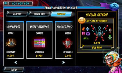 Screenshots of the A Space Shooter for Android tablet, phone.