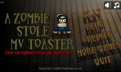 A zombie stole my toaster poster