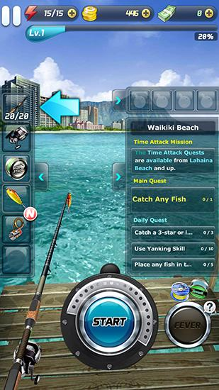 Screenshots do Ace fishing No.1: Wild catch - Perigoso para tablet e celular Android.