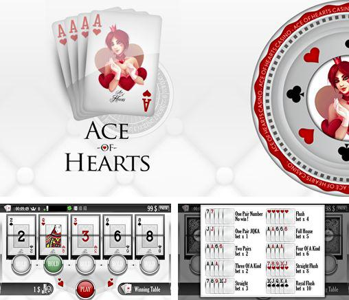 Кроме игры Blackjack 21: Classic poker games скачайте бесплатно Ace of hearts: Casino poker - video poker для Android телефона или планшета.
