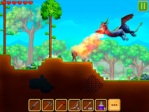 Écrans de Adventaria: 2D world of craft and mining pour tablette et téléphone Android.