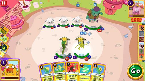 Capturas de pantalla de Adventure time: Card wars kingdom para tabletas y teléfonos Android.