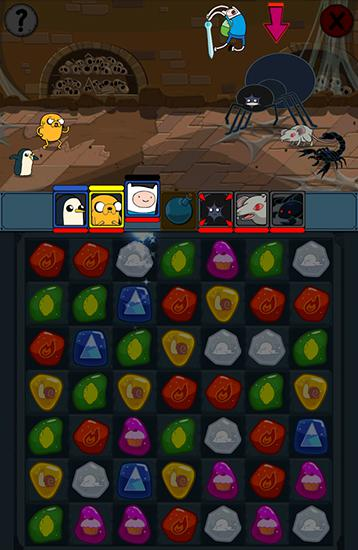 Screenshots of the Adventure time: Puzzle quest for Android tablet, phone.
