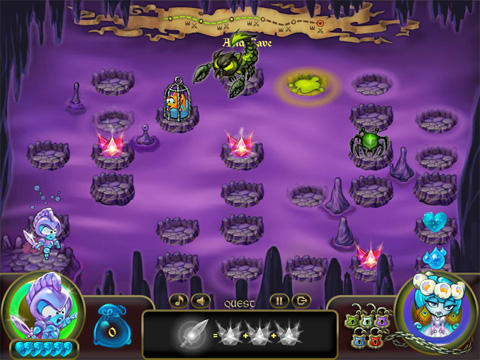 Screenshots von Adventures of the Water knight: Rescue the princess für Android-Tablet, Smartphone.