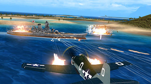 Screenshots do Air combat pilot: WW2 Pacific - Perigoso para tablet e celular Android.