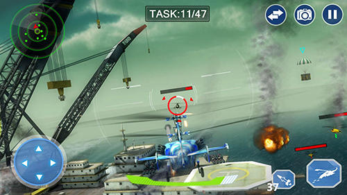 Screenshots do Air force lords: Free mobile gunship battle game - Perigoso para tablet e celular Android.