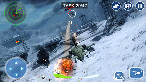 Геймплей Air force lords: Free mobile gunship battle game для Android телефону.