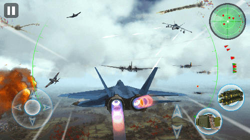 Screenshots von Air thunder war für Android-Tablet, Smartphone.