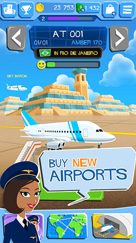 Screenshots von Airline tycoon: Free flight für Android-Tablet, Smartphone.