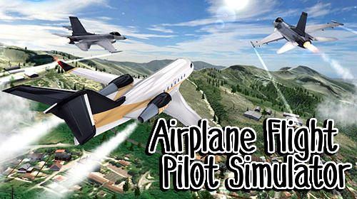 Airplane flight pilot simulator poster