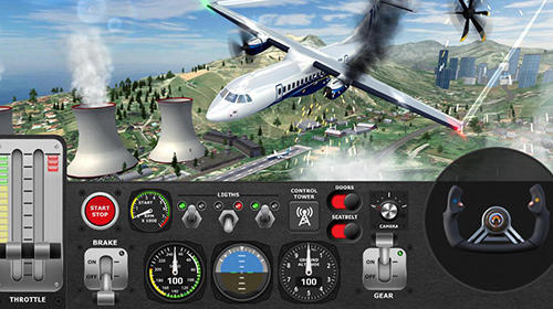 Airplane flight pilot simulator screenshot 2
