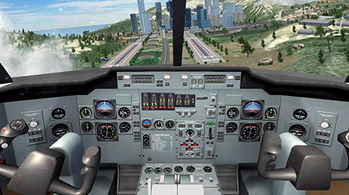 Airplane flight pilot simulator screenshot 3