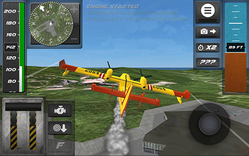Screenshots von Airplane flight simulator 2017 für Android-Tablet, Smartphone.