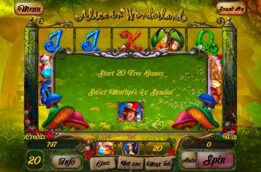 Screenshots von Alice in Wonderland: Slot für Android-Tablet, Smartphone.