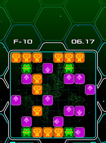 Alien bricks: A logical puzzle and arcade game screenshot 2