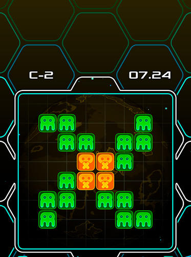 Alien bricks: A logical puzzle and arcade game screenshot 3