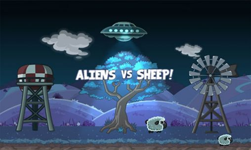 Aliens vs sheep poster