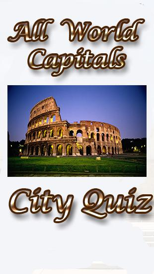 All world capitals: City quiz poster