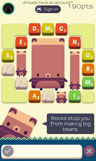 Screenshots von Alphabear: English word game für Android-Tablet, Smartphone.