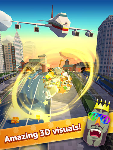 Kostenloses Android-Game Amaying Katamari Damacy. Vollversion der Android-apk-App Hirschjäger: Die Amazing katamari damacy für Tablets und Telefone.