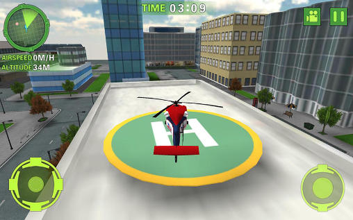 Kostenloses Android-Game Ambulanz-Helikopter Simulator. Vollversion der Android-apk-App Hirschjäger: Die Ambulance helicopter simulator für Tablets und Telefone.