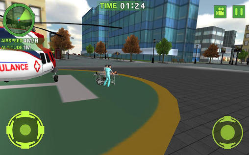 Screenshots do Ambulance helicopter simulator - Perigoso para tablet e celular Android.