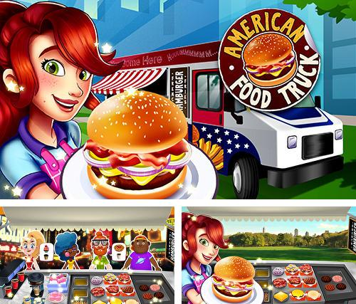 American burger truck: Fast food cooking game