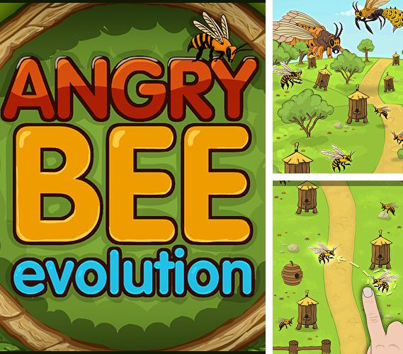 En plus du jeu Arc et flèche  pour téléphones et tablettes Android, vous pouvez aussi télécharger gratuitement Evolution d'abeilles méchantes: Clicker simple et agréable, Angry bee evolution: Idle cute clicker tap game.