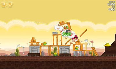 Screenshots do Angry Birds - Perigoso para tablet e celular Android.