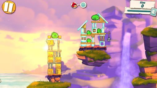 Screenshots of the Angry birds 2 for Android tablet, phone.
