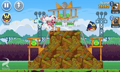 Screenshots von Angry Birds Friends für Android-Tablet, Smartphone.