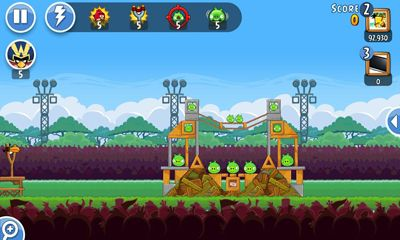 Screenshots do Angry Birds Friends - Perigoso para tablet e celular Android.
