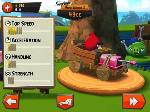 Screenshots do Angry birds go! - Perigoso para tablet e celular Android.
